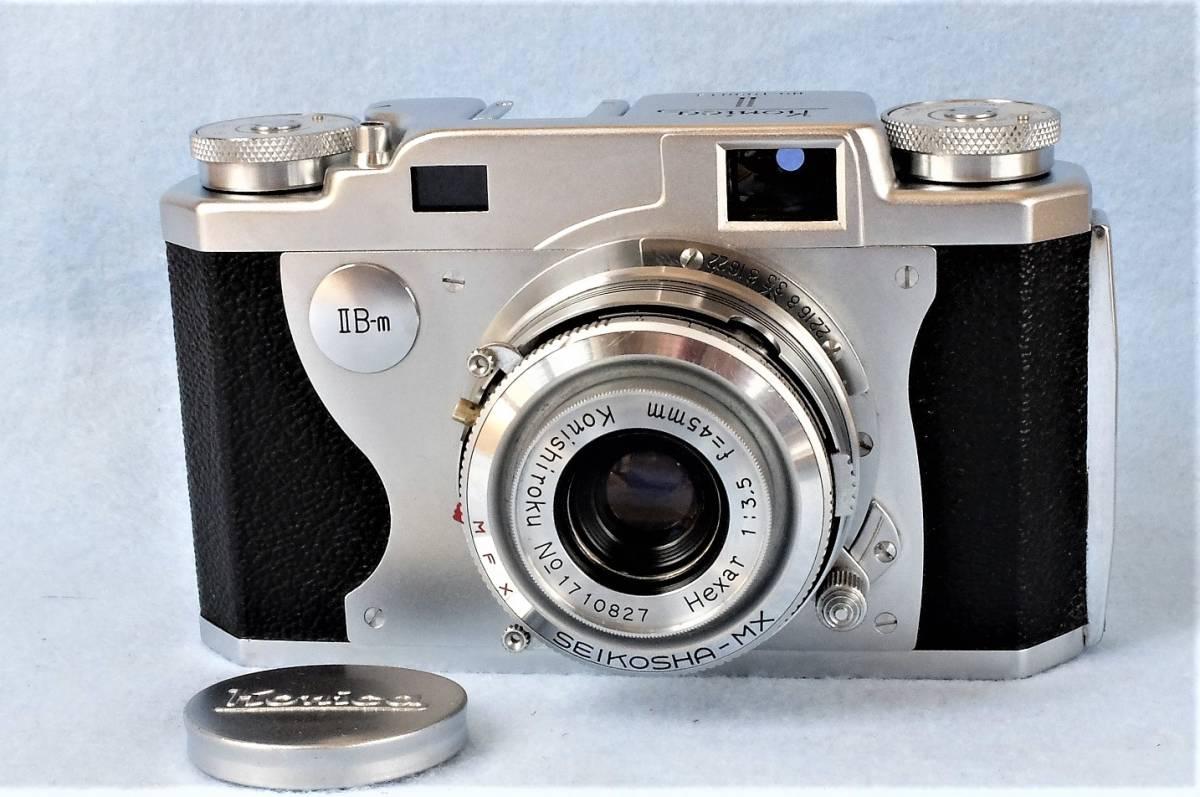 【 きれいなジャンク品です。 】 コニカ ⅡB-m Konishiroku Hexar 1:3.5 f=45mm