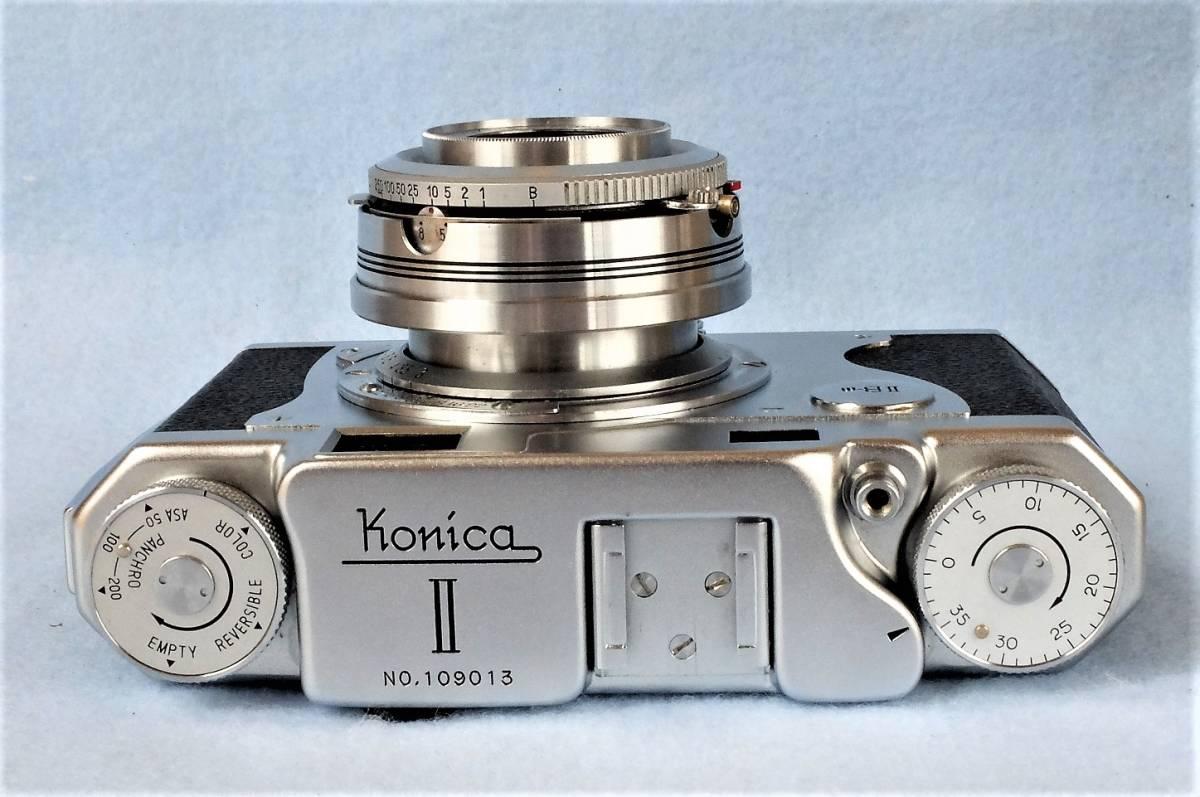 【 きれいなジャンク品です。 】 コニカ ⅡB-m Konishiroku Hexar 1:3.5 f=45mm_画像5