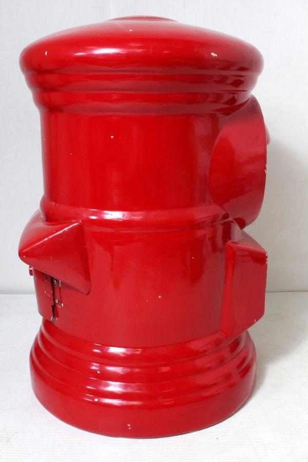 非売品/特大 郵便局 赤色 ポスト型 貯金箱 ゆうちょ 風水 ノベルティ 46cm_画像4