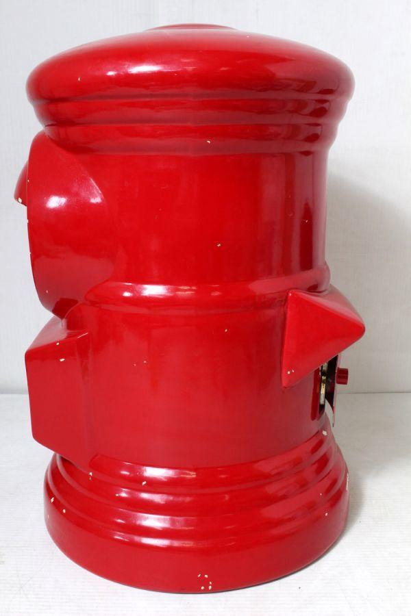 非売品/特大 郵便局 赤色 ポスト型 貯金箱 ゆうちょ 風水 ノベルティ 46cm_画像2