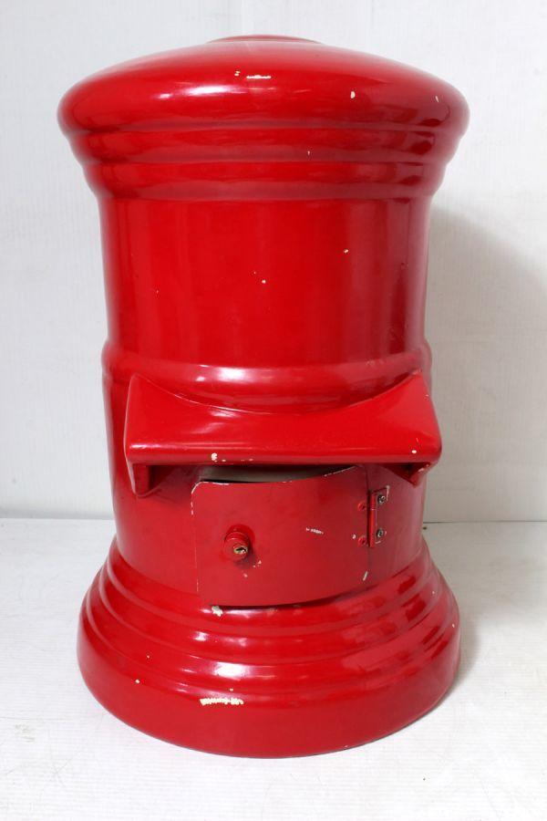 非売品/特大 郵便局 赤色 ポスト型 貯金箱 ゆうちょ 風水 ノベルティ 46cm_画像3