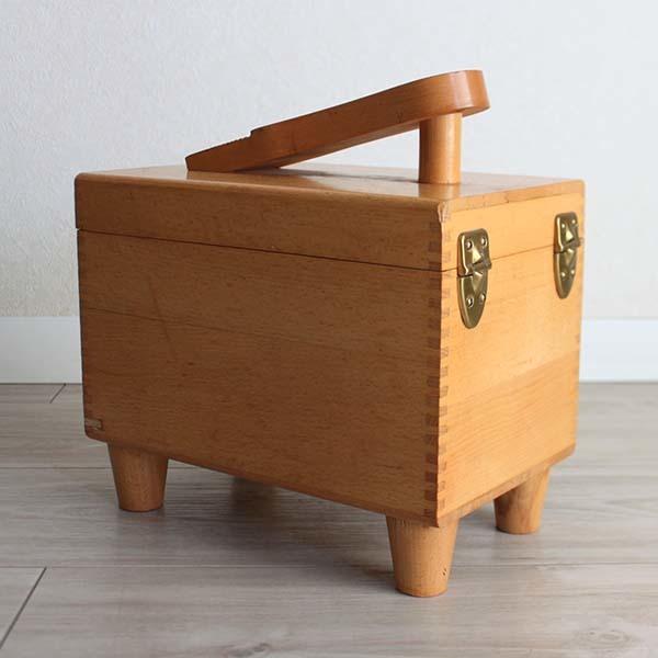 アメリカ製ビンテージ ESQUIRE SHOE VALET 木製シューケアボックス Q037_画像4