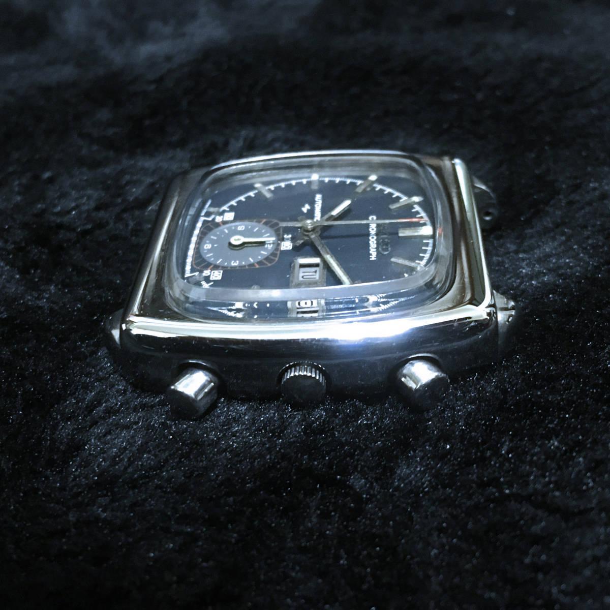売切 美品 希少 動作品 SEIKO セイコー MONACO モナコ 7016-5001自動巻クロノグラフ 約20年未稼働 輸出専用モデル ビンテージ アンティーク_画像4