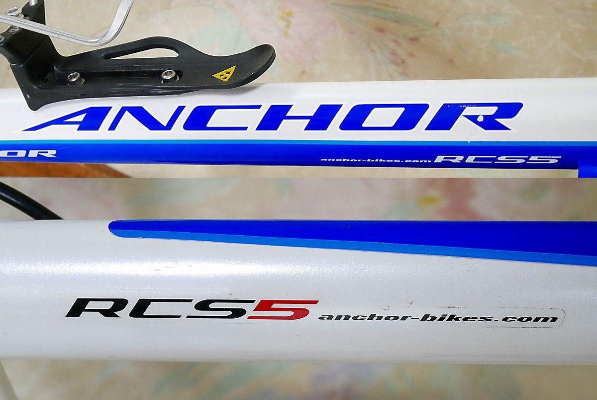 ANCHOR アンカー(ほぼ綺麗)RCS 5(シマノ 105 27速)700C ホワイトとブルーのRoad Bikes 中古_画像3
