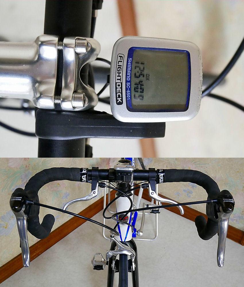 ANCHOR アンカー(ほぼ綺麗)RCS 5(シマノ 105 27速)700C ホワイトとブルーのRoad Bikes 中古_画像5