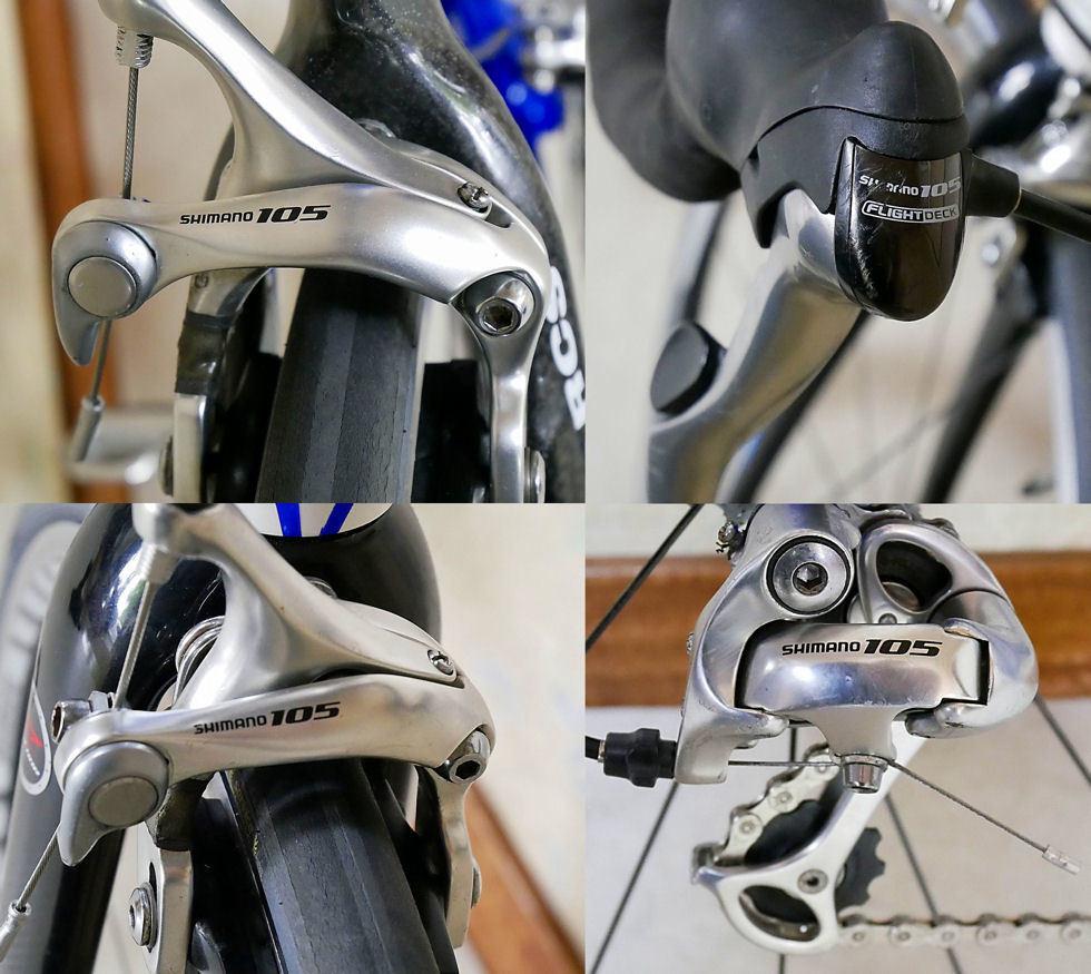 ANCHOR アンカー(ほぼ綺麗)RCS 5(シマノ 105 27速)700C ホワイトとブルーのRoad Bikes 中古_画像4