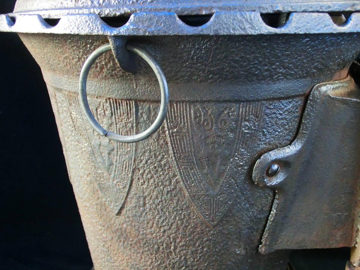 アンティーク 練炭コンロ 石炭ストーブ だるまストーブ ストーブ 七輪 焚き火台 コンロ ルンペンストーブ 暖房器具 鉄製 アトリエ モチーフ_画像9