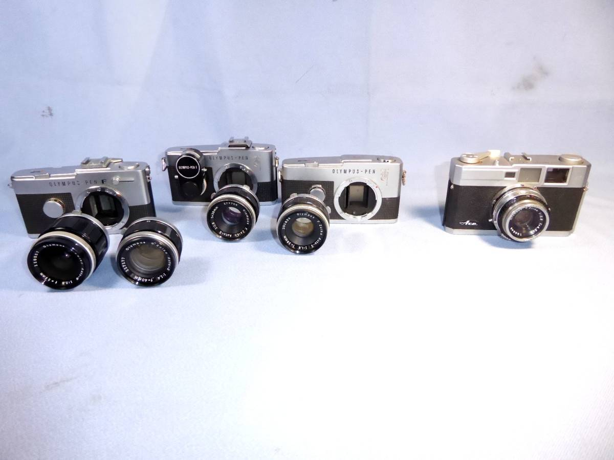★   綺麗  部品取   ★  OLYMPUS - PEN  F  x  3,   OLYMPUS - ACE,   ARGUS   &   MINOLTA - 35_画像7