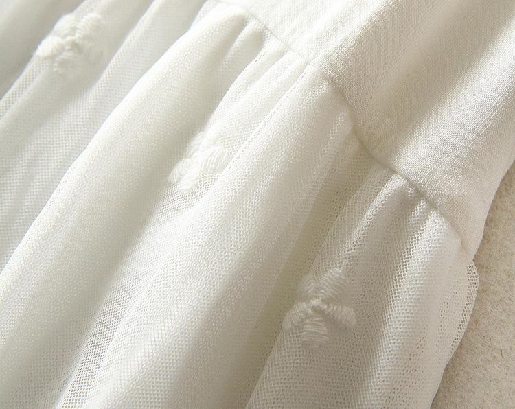 ノースリーブ ドレス 花柄レース レディース キャミソール ワンピース ペチコート 綿レース刺繍_画像7