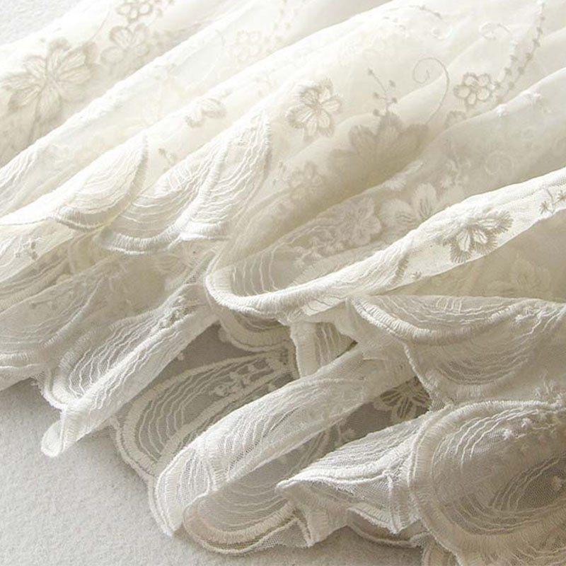 ノースリーブ ドレス 花柄レース レディース キャミソール ワンピース ペチコート 綿レース刺繍_画像9