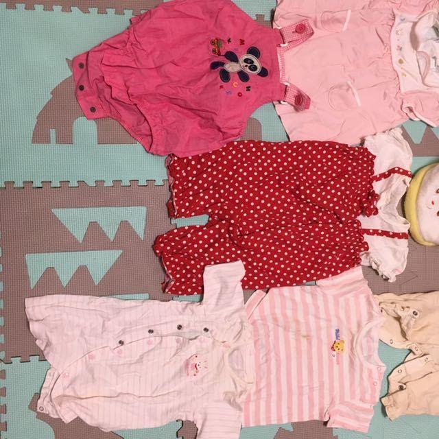 ♪ ミキハウス 10点 ファミリア1点 60サイズ、70サイズ、80サイズ、85サイズ ♪女の子 ベビー ロンパース、ワンピース、Tシャツ、帽子_画像4