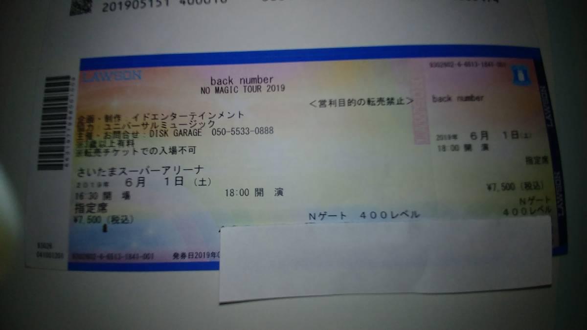 back number さいたまスーパーアリーナ6月1日(土)