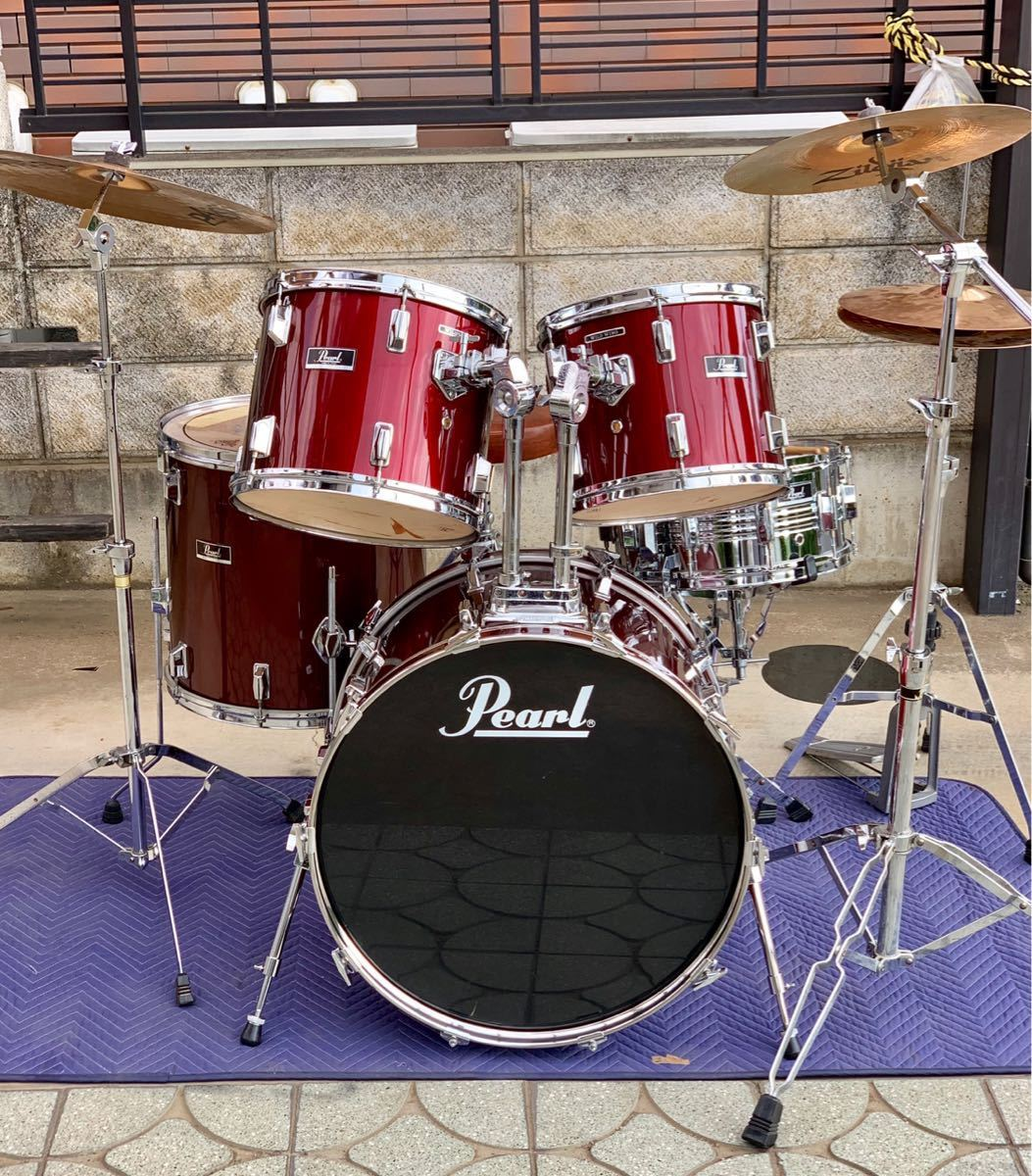 ☆Pearl/パール80'ドラムセット/WILD WINGシリーズ/日本製/程度良好!PAISTE&Zildjianシンバル_画像9