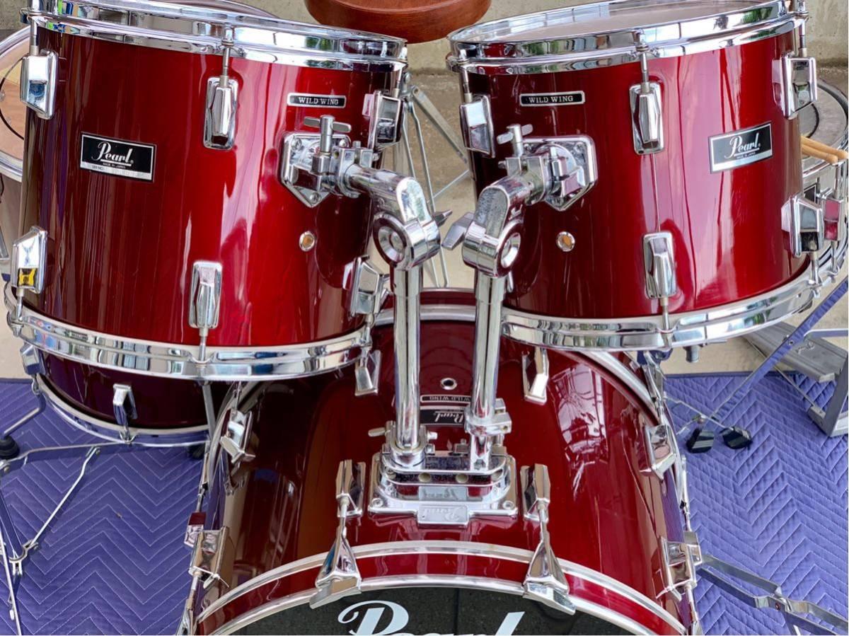 ☆Pearl/パール80'ドラムセット/WILD WINGシリーズ/日本製/程度良好!PAISTE&Zildjianシンバル_画像2