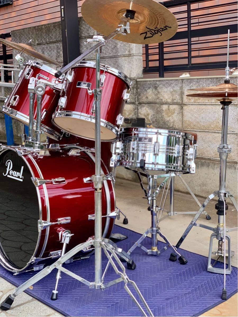☆Pearl/パール80'ドラムセット/WILD WINGシリーズ/日本製/程度良好!PAISTE&Zildjianシンバル_画像3