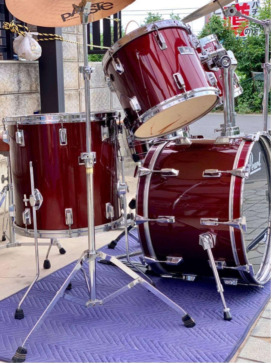 ☆Pearl/パール80'ドラムセット/WILD WINGシリーズ/日本製/程度良好!PAISTE&Zildjianシンバル_画像6