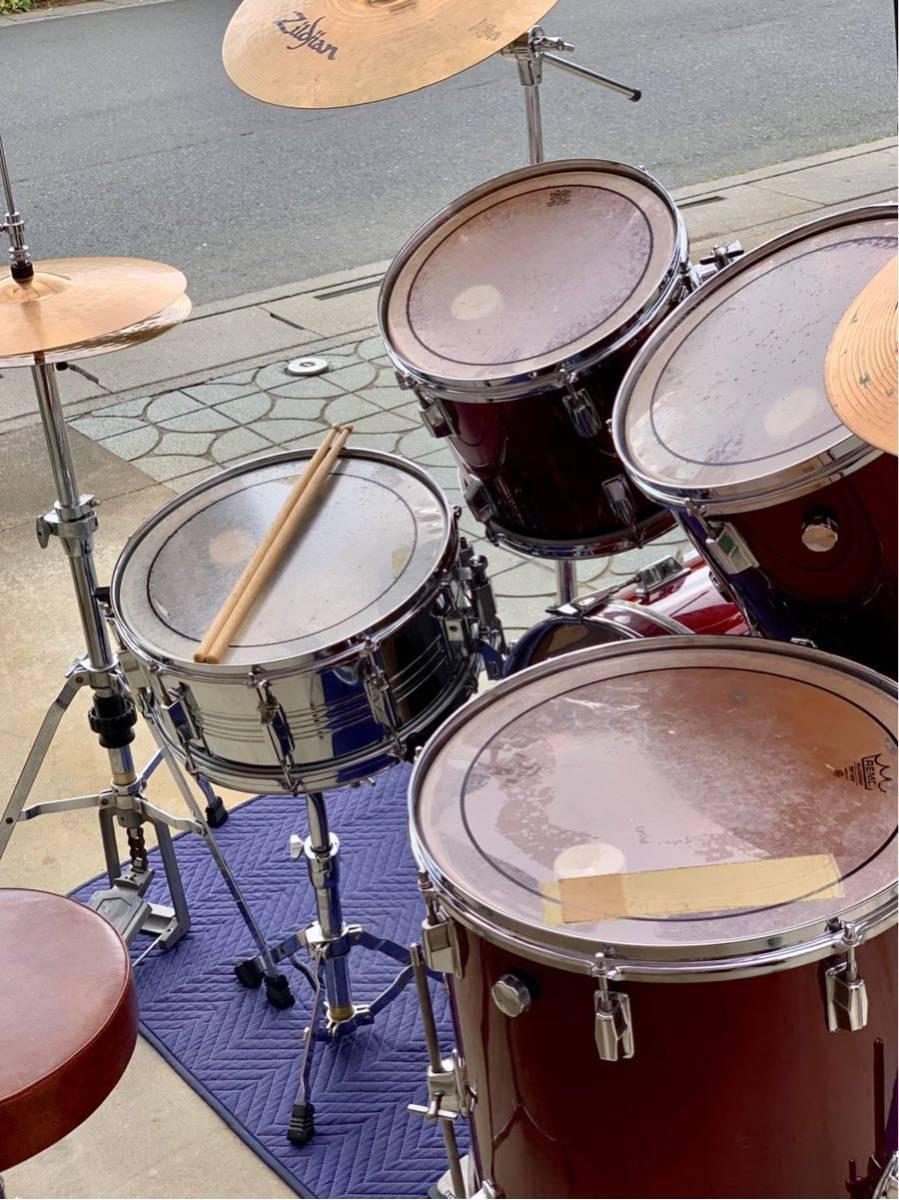 ☆Pearl/パール80'ドラムセット/WILD WINGシリーズ/日本製/程度良好!PAISTE&Zildjianシンバル_画像7