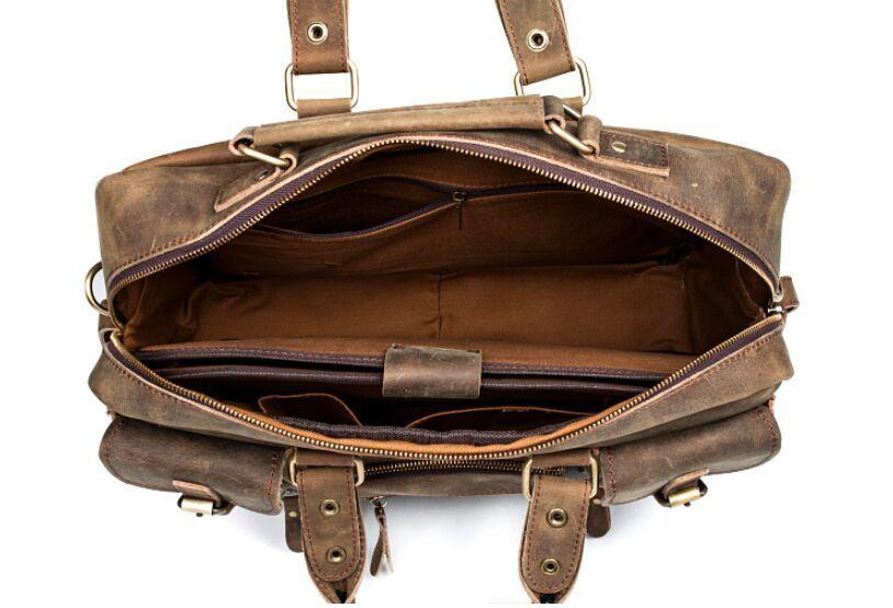【定価65万】.【純手工細作】上層牛革100%メンズビジネスバッグ 書類かばん ビジネスバッグ ショルダーバッグ メンズバッグ 鞄_画像9