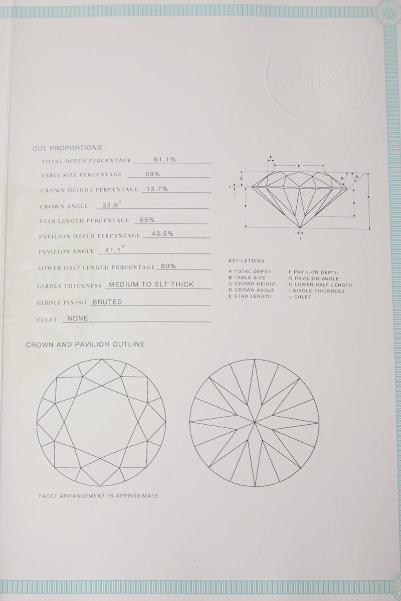 ティファニー Tiffany バイザヤード ネックレス ダイヤモンド 0.30ct プラチナ950 鑑定書付 新品未使用_画像7
