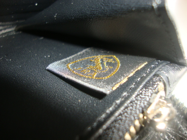 新品 クロコダイル 超逸品 JRA 認定 日本製 セカンド ラウンド 長財布 腹革 一枚革 センターカット 送料無料 ブラック _画像9