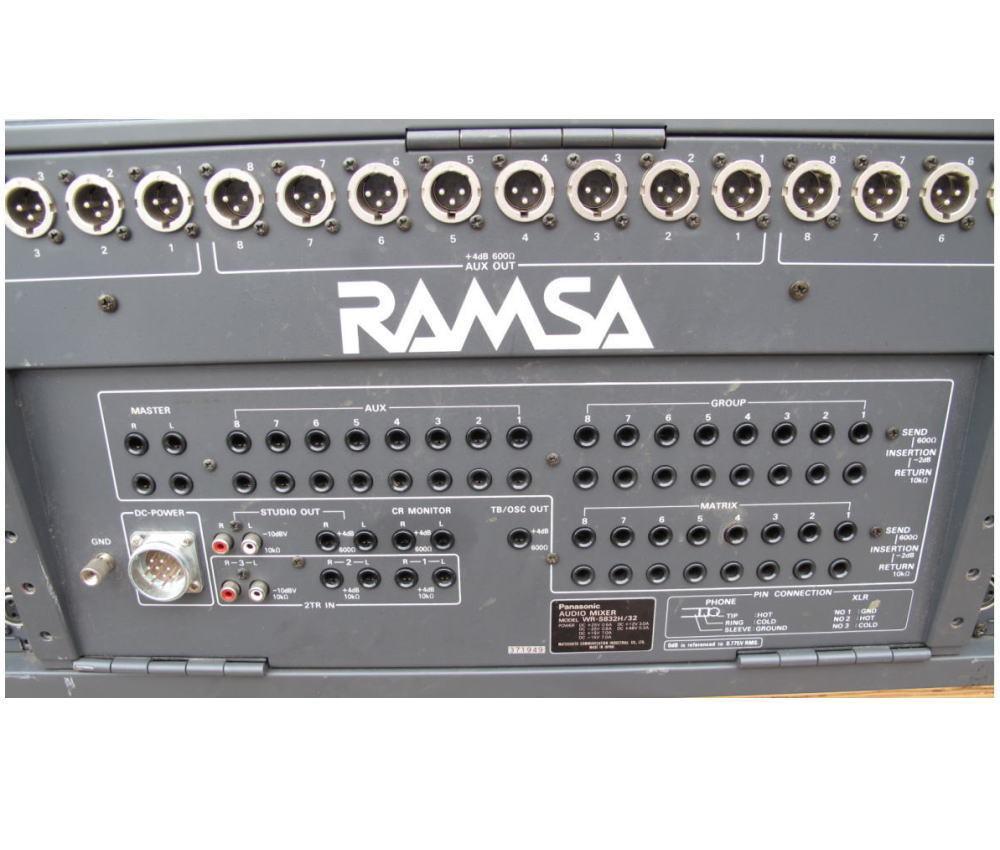 ■RAMSA/ラムサ■オーディオミキサー■WR-S832H/32■動作未確認/現状■引取限定■_画像8