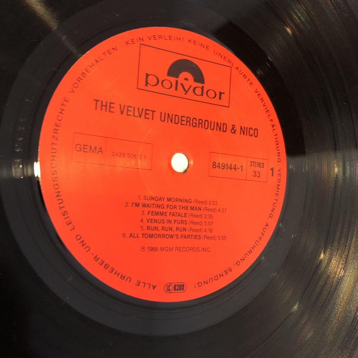希少レコード!入手困難 VELVET UNDERGROUND & NICO ヴェルヴェット アンダーグラウンド アンド ニコ LP849 144-1 ドイツ盤 ルーリード_画像4