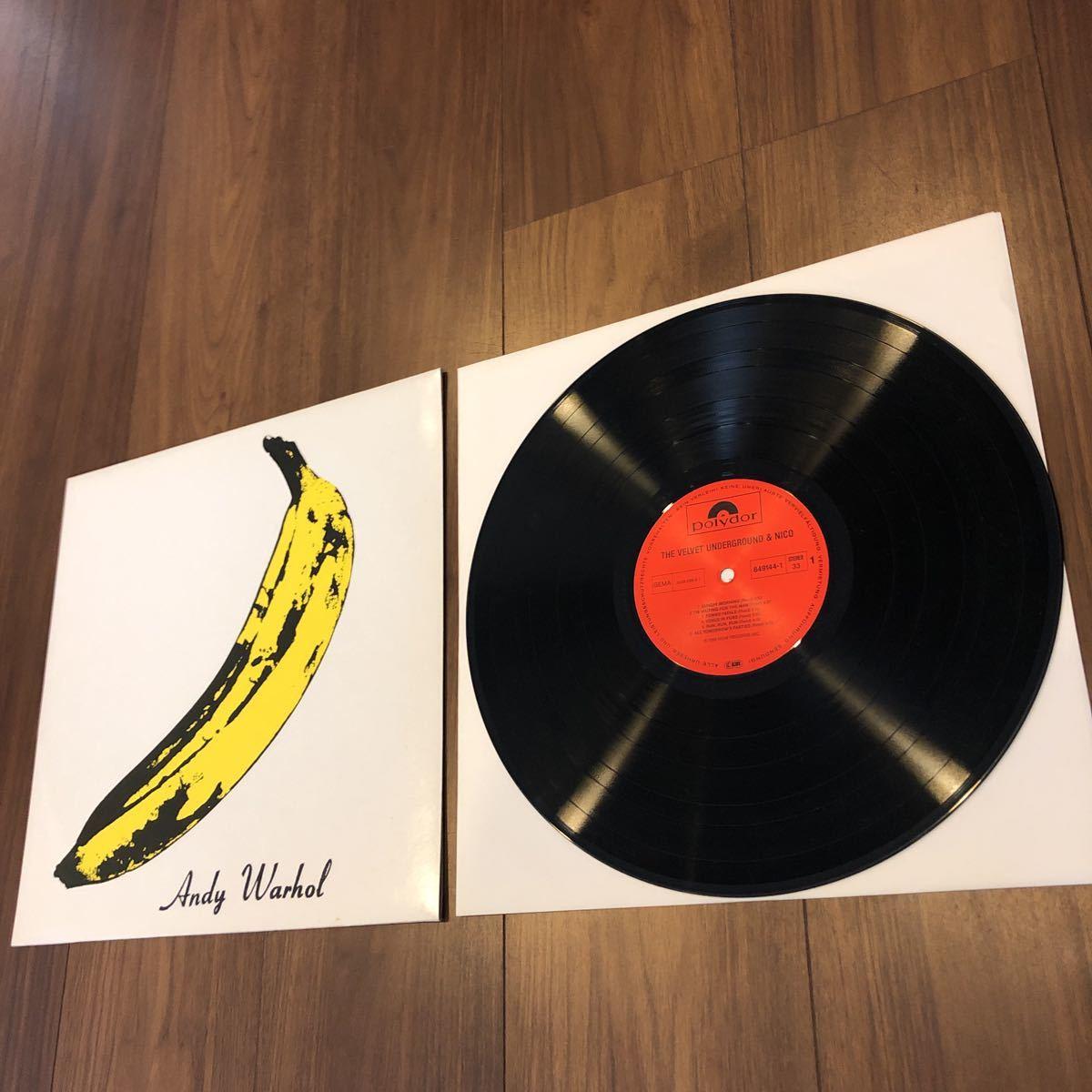 希少レコード!入手困難 VELVET UNDERGROUND & NICO ヴェルヴェット アンダーグラウンド アンド ニコ LP849 144-1 ドイツ盤 ルーリード_画像2