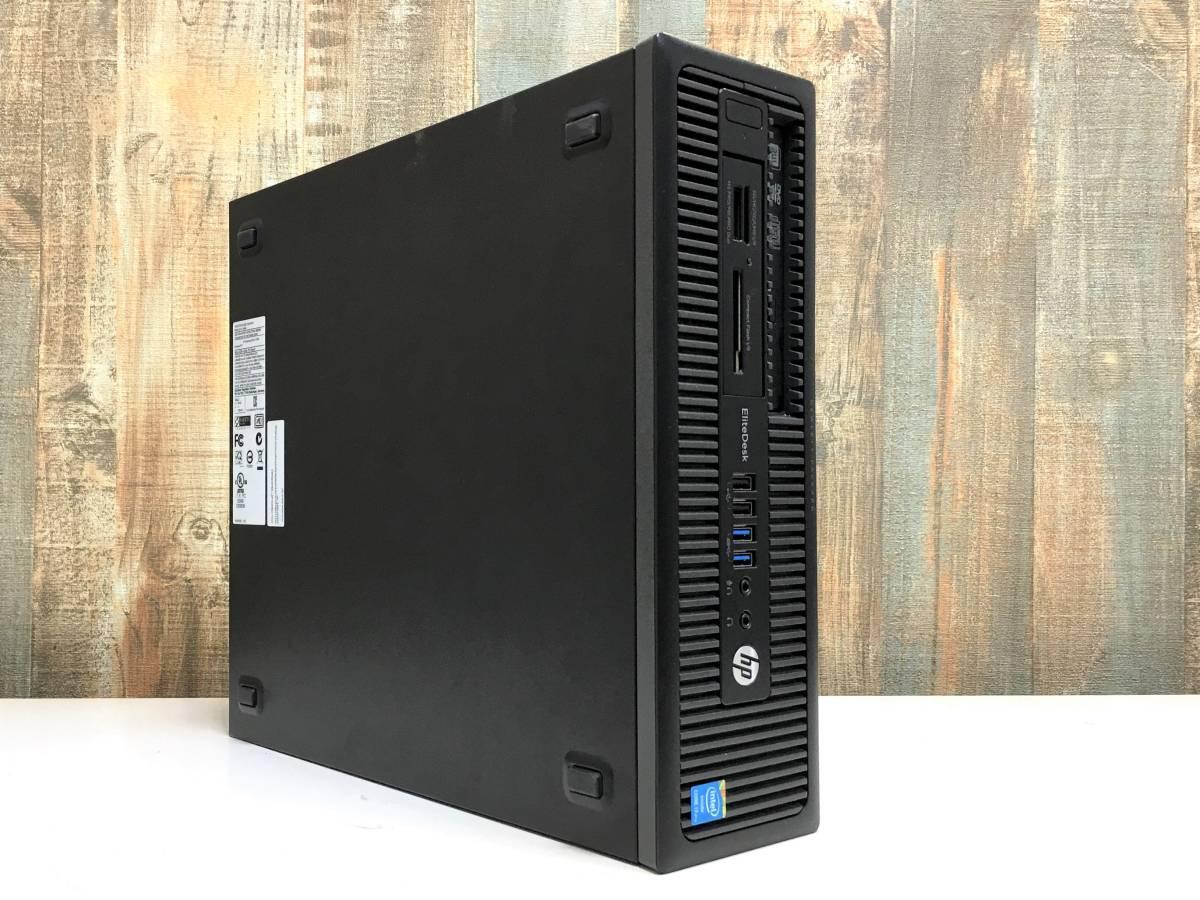 爆速 HP EliteDesk 800 G1 / Core i7 4790 4.0GHz x8 / メモリ 8GB + SSD128GB + HDD1TB / USB3.0 x4 / 3画面 / Win10 Pro / リカバリ付属_画像2