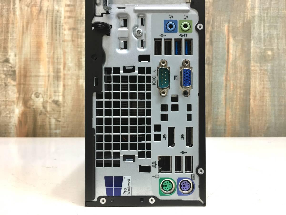 爆速 HP EliteDesk 800 G1 / Core i7 4790 4.0GHz x8 / メモリ 8GB + SSD128GB + HDD1TB / USB3.0 x4 / 3画面 / Win10 Pro / リカバリ付属_画像4