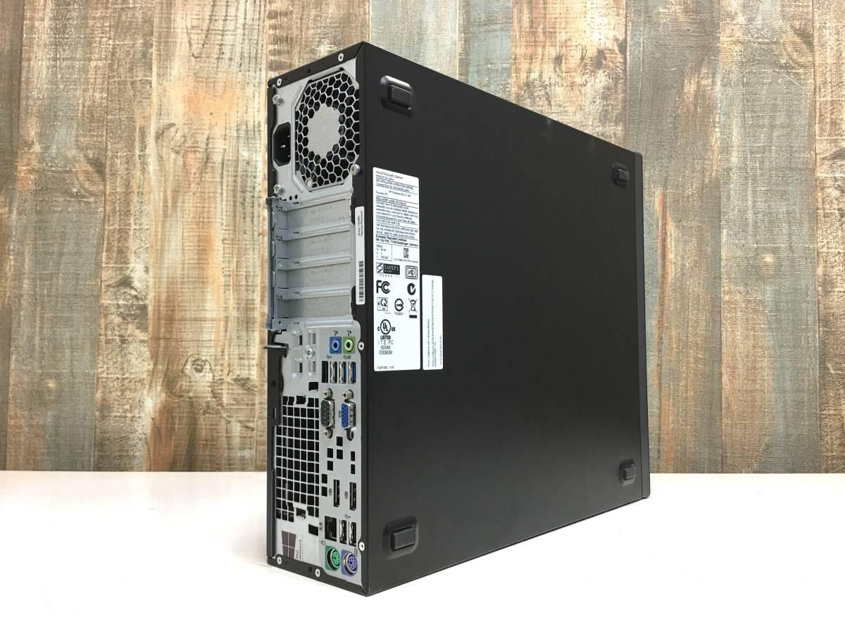 爆速 HP EliteDesk 800 G1 / Core i7 4790 4.0GHz x8 / メモリ 8GB + SSD128GB + HDD1TB / USB3.0 x4 / 3画面 / Win10 Pro / リカバリ付属_画像3