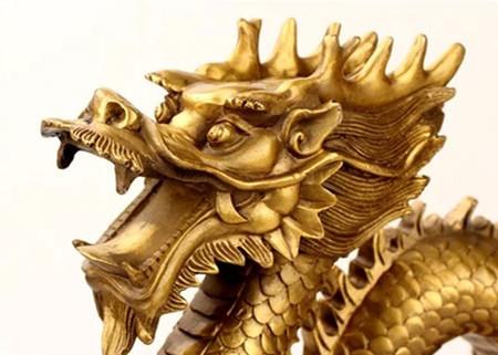 高級上質 高級収蔵品 純銅製 極細工彫刻 【竜】 置物_画像2