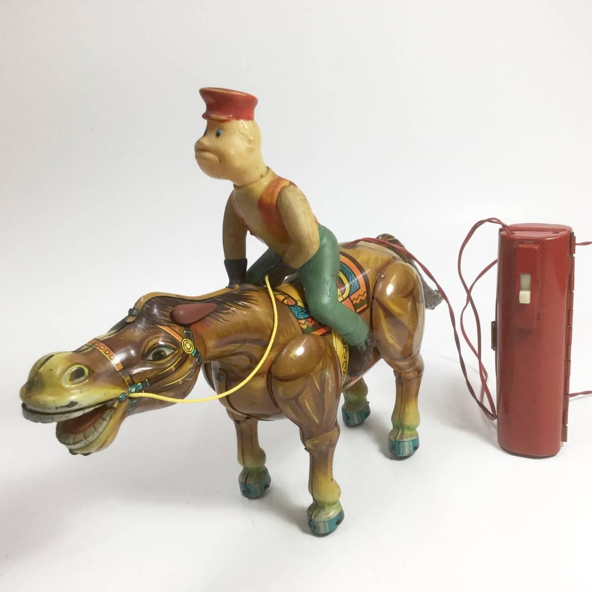 ウエスタンレンジャー 馬乗り ブリキ玩具 電動リモコン走行 1950年代 増田屋 マスダヤ 初