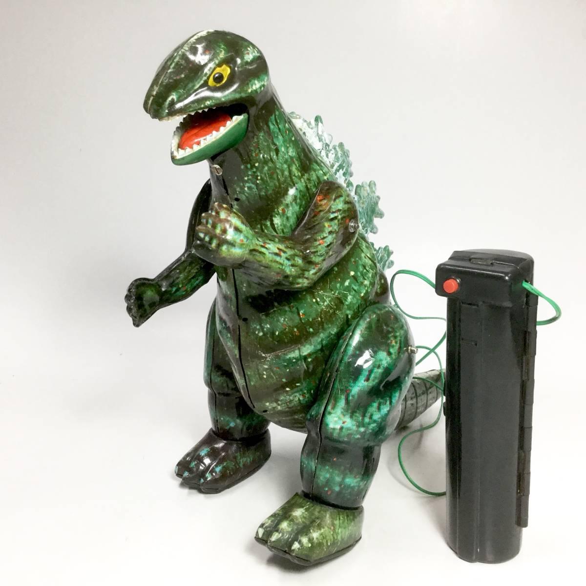 ゴジラ マルサン 電動リモコン オリジナル 2足歩行 ブリキ玩具 1960年代 当時もの レトロ ビンテージ 怪獣 東宝特撮