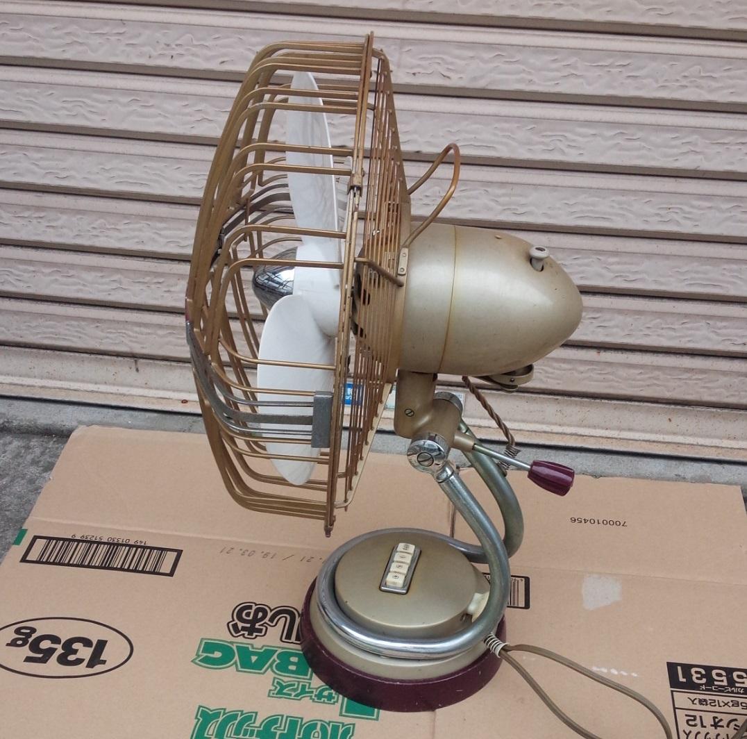 三菱 MITSUBISHI アンティーク 扇風機 DM-12LC リモコン付き 動作品 昭和レトロ_画像3
