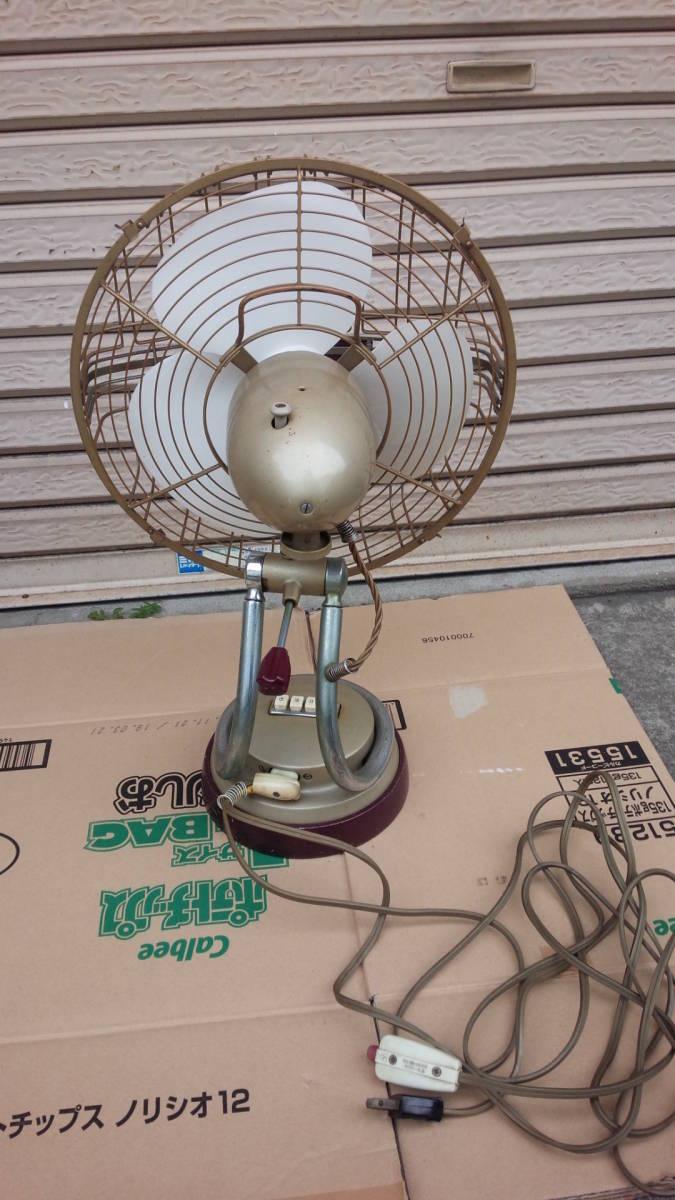 三菱 MITSUBISHI アンティーク 扇風機 DM-12LC リモコン付き 動作品 昭和レトロ_画像4