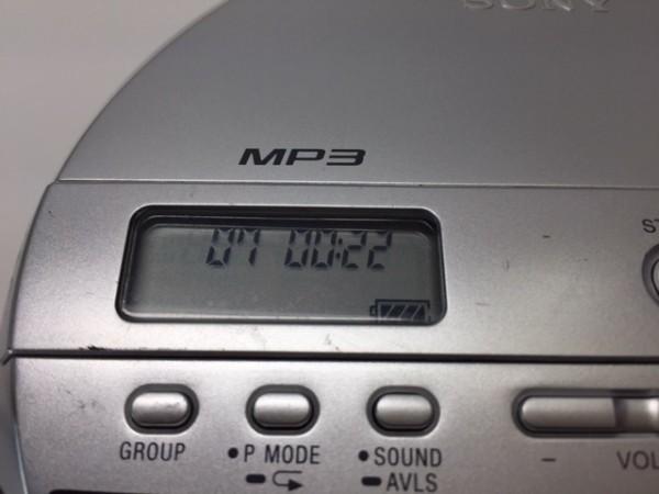 (054-03) 1円~[ 良品 動作品 ] SONY CDウォークマン D-NE241 シルバー ♪ CD-R/RW / MP3再生OK/ 音とびに強い耐振機構搭載 G-Protection_画像2