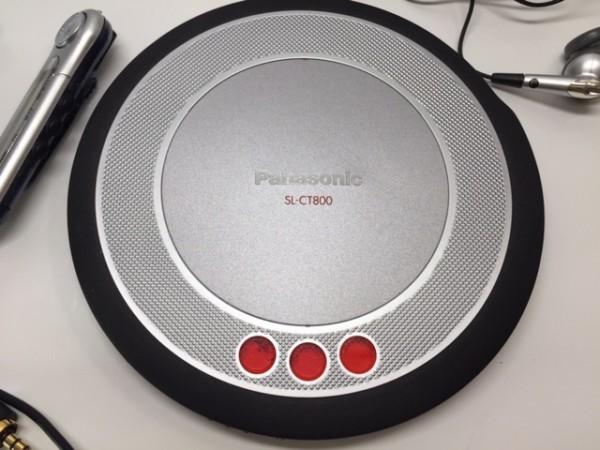 (054-02) 1円~[ 美品 動作品 ] Panasonic ポータブルCDプレーヤーSL-CT800 ブラック ♪ CD-R/RW / MP3再生OK_画像4