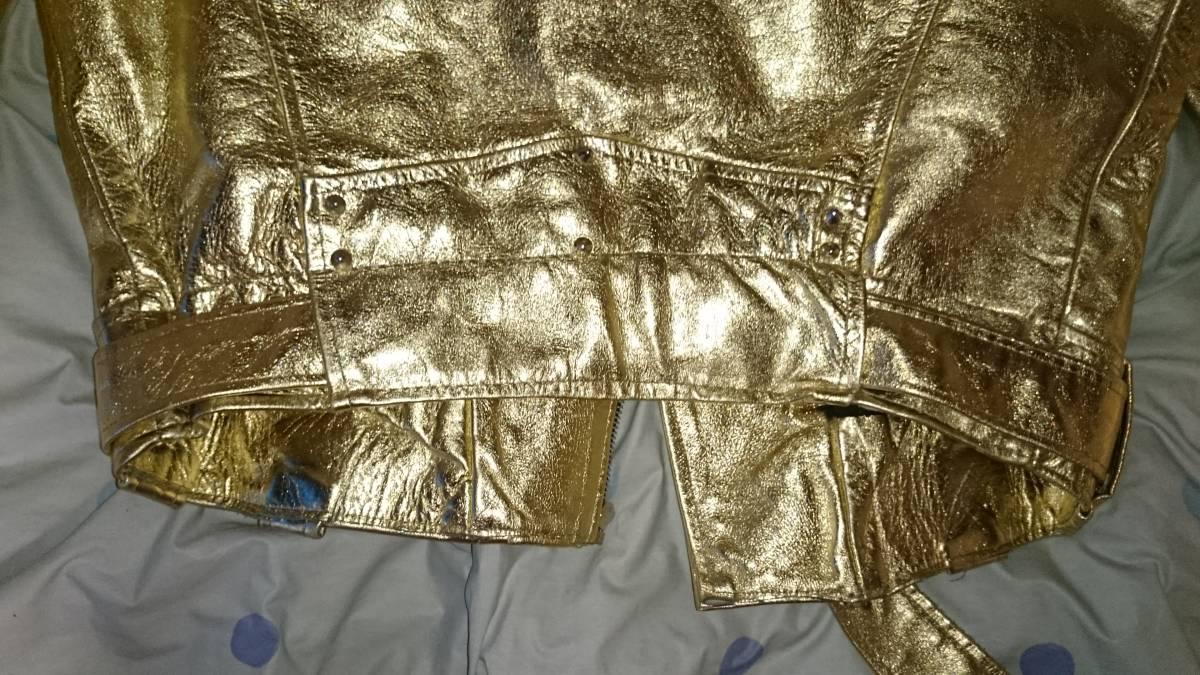 LAROCKA ラロッカ JOHNSONS ジョンソンズ ライダース ゴールド 金 ロードランナー S 666 UK ルイス LEWIS ダブル _画像7