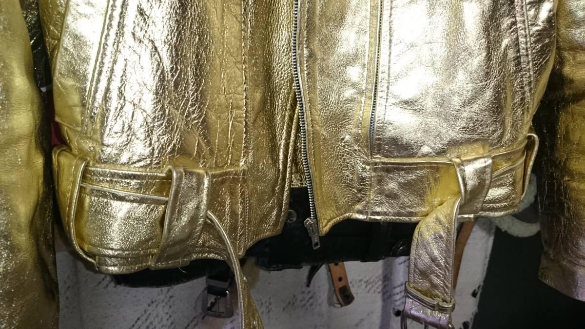 LAROCKA ラロッカ JOHNSONS ジョンソンズ ライダース ゴールド 金 ロードランナー S 666 UK ルイス LEWIS ダブル _画像10