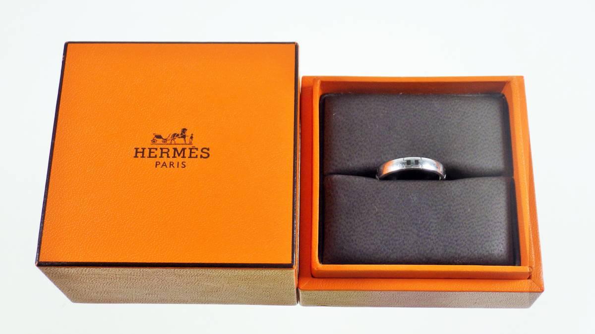【1円スタート 最低落札価格なし】エルメス HERMES ヘラクレスリング WG #52 AU750 約3.8g【1505A】