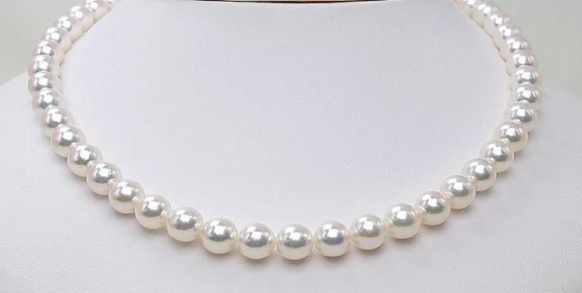 特別セール!照り巻き最高! オーロラ花珠真珠ネックレスオールクッション9.5mm-10mm SVイヤリング又はチタンピアス&信頼の鑑別付 _画像2