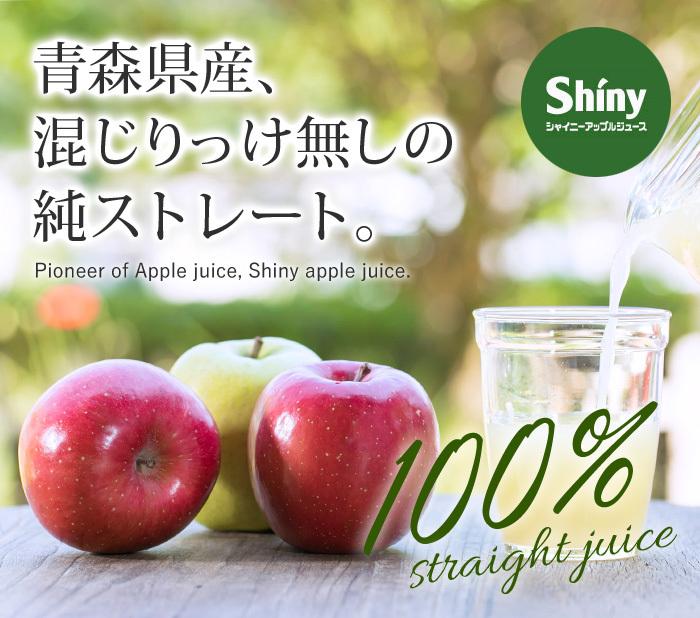 送料無料 シャイニー 青森県りんご 100% りんごジュース ギフト アップルジュース 無添加ストレート SY-C 5本入 _画像2