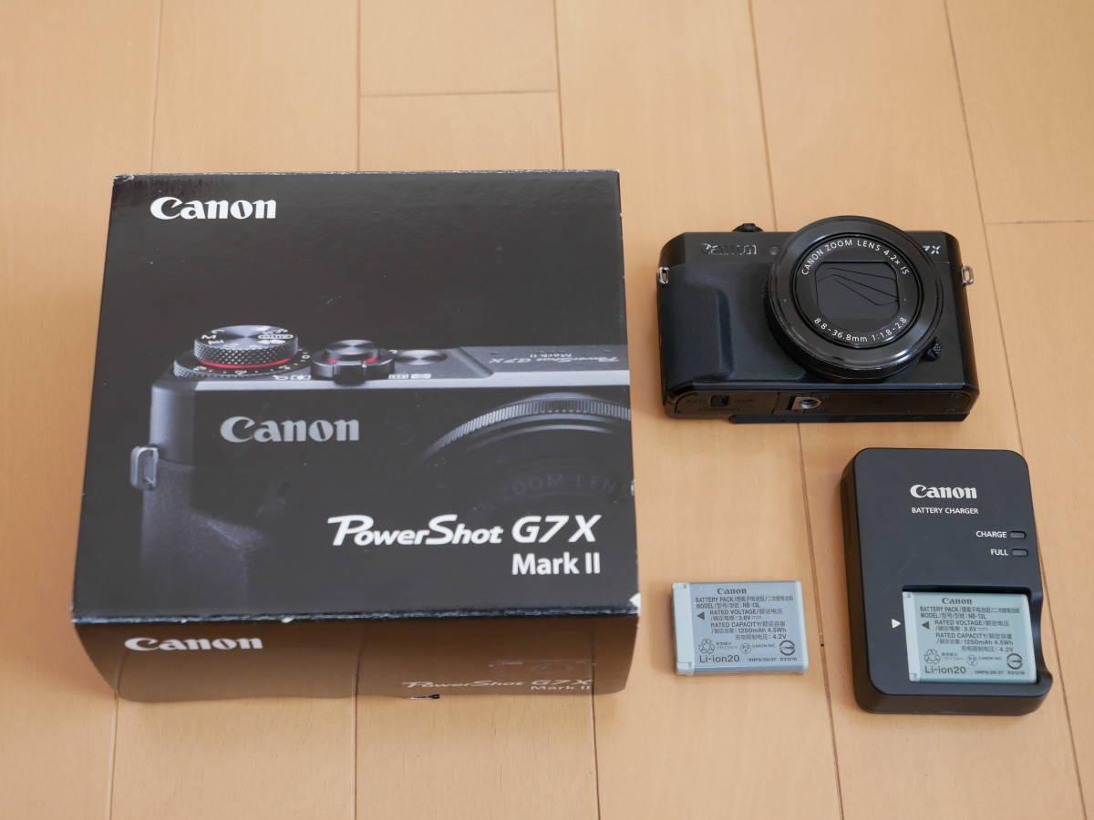 CANONキヤノン PowerShot G7X MarkⅡ中古 実用品 予備バッテリー付き_画像3