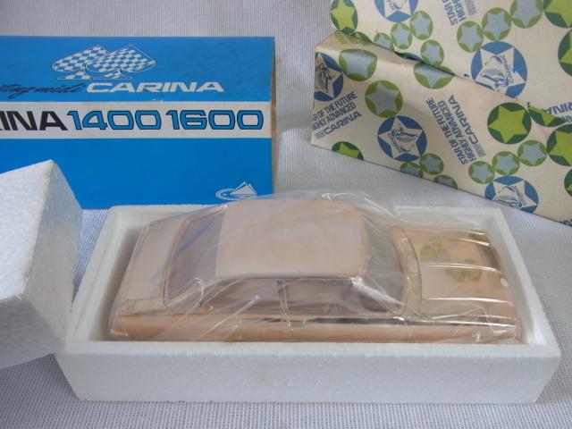 蔵出◆ 未開封 シガレットケース トヨタ カリーナ 1600 エキサイティング・ミディ 3点 まとめて ◆ CARINA 1400 1600 置物 当時物