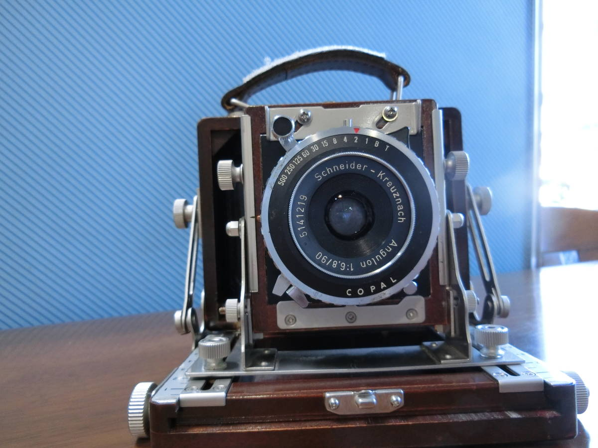 ジャンク Photox フォトックス6789 木製暗箱カメラ  Angulon f6・8 90mm付き