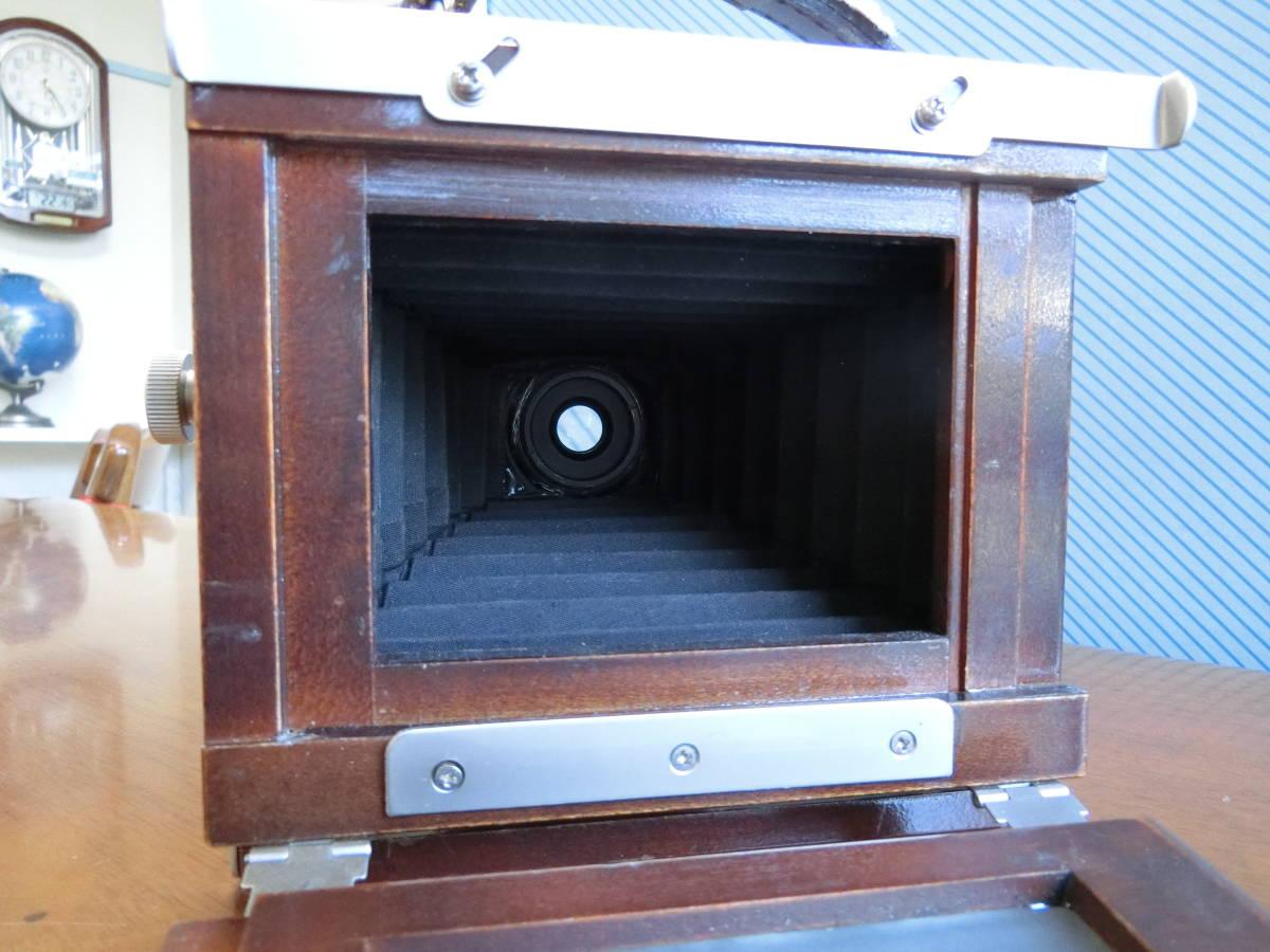 ジャンク Photox フォトックス6789 木製暗箱カメラ  Angulon f6・8 90mm付き_画像5