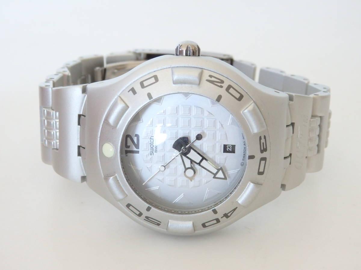 <本物 良品 Swatch スウォッチ 腕時計 IRONY アイロニー 007 コラボ作品 稼働品 電池交換済み>2.13.1 ☆定形外発送OK☆ 290円_画像2