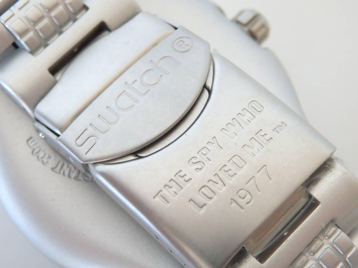 <本物 良品 Swatch スウォッチ 腕時計 IRONY アイロニー 007 コラボ作品 稼働品 電池交換済み>2.13.1 ☆定形外発送OK☆ 290円_画像7