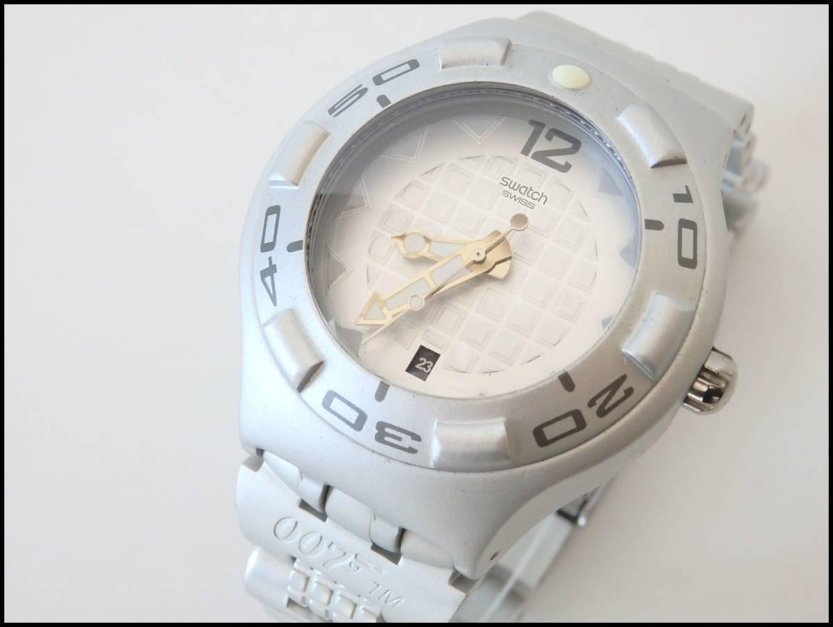 <本物 良品 Swatch スウォッチ 腕時計 IRONY アイロニー 007 コラボ作品 稼働品 電池交換済み>2.13.1 ☆定形外発送OK☆ 290円