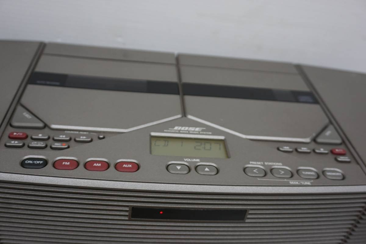 (w05145) BOSE CDラジカセ ACOUSTIC WAVE STEREO MUSIC SYSTEM AWM ボーズ ジャンク_画像4